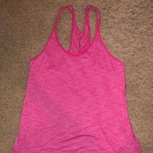 Pink Lululemon tank top size 6/8